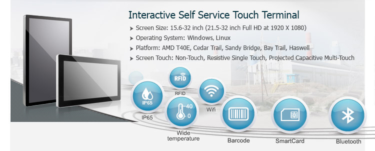 Interactive Self Service Touch Terminal